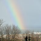 A rainbow seen from Calton Hill, Edinburgh by Richard Flint