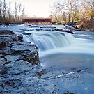 Cold Winter Morning at Cataract Falls by Declan Lopez