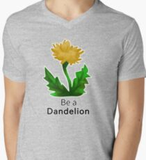 Be a Dandelion  Men's V-Neck T-Shirt