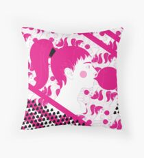 Bubblegum Pop Up Throw Pillow