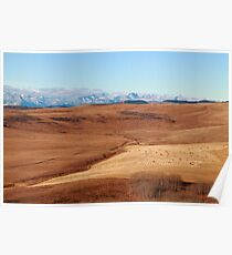 Hilly prairies Poster