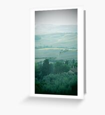 abstract hilly landscape Greeting Card