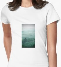 abstract hilly landscape Women's Fitted T-Shirt