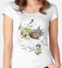 Die unendliche Geschichte - Montage Tailliertes Rundhals-Shirt