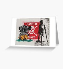 Beware of mines Greeting Card