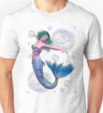 Mermaid in Bubbles Unisex T-Shirt