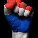 Flagge von Thailand auf einer angehobenen geballten Faust von jeff bartels