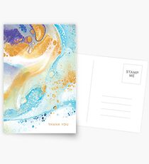 Winter Gold Thank You (Greeting Card) Postcards