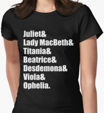 Shakespeare's Ladies Womens Fitted T-Shirt