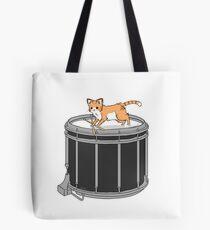 Drum cat Tote Bag