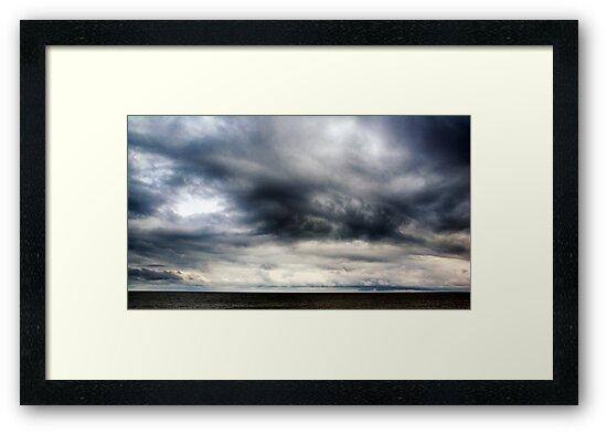 Berwick Upon Tweed Stormy Sky Seascape by Chris Tait