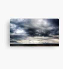 Berwick Upon Tweed Stormy Sky Seascape Canvas Print