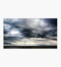Berwick Upon Tweed Stormy Sky Seascape Photographic Print