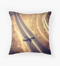 Plane Crossing Throw Pillow