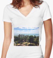 Fortaleza, Brasil Women's Fitted V-Neck T-Shirt