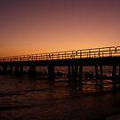 Pier at Sunset by SERENA Boedewig