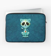Blue Zombie Sugar Kitten Cat Laptop Sleeve