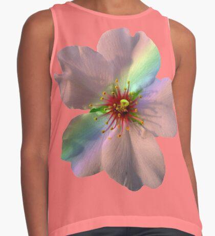 zauberhafte Blüte in coral, korallenrot, Regenbogen Kontrast Top