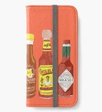 Spicy! Check out these hot sauces iPhone Wallet/Case/Skin
