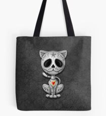 Dark Zombie Sugar Kitten Cat Tote Bag