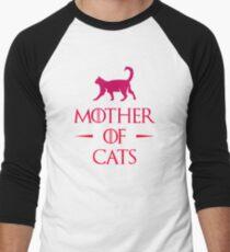 Camiseta ¾ bicolor para hombre Madre de Gatos - Gradiente