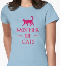 Mother of Cats - Gradient Womens Fitted T-Shirt