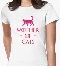 Mother of Cats - Gradient Women's Fitted T-Shirt
