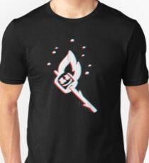 Marshmello on Fire Glitch  Unisex T-Shirt