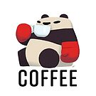 Panda Enjoying Cup of Joe by PunchingPandas