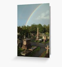 Over The Cemetery Greeting Card