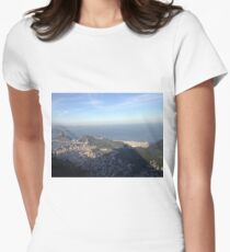 Cristo's view of Rio Women's Fitted T-Shirt