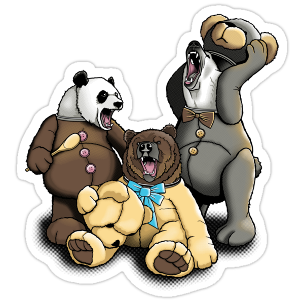 The Three Angry Bears by rubyred