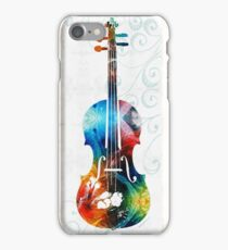 Colorful Violin Art by Sharon Cummings  iPhone Case/Skin