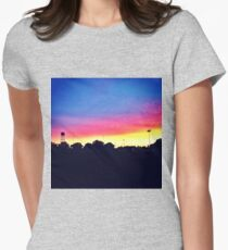 Sunset in UC Davis Womens Fitted T-Shirt