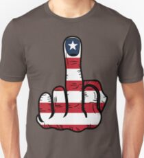 Middle Finger USA Flag Unisex T-Shirt