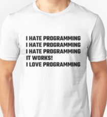 I Love Programming Slim Fit T-Shirt