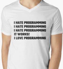 I Love Programming Men's V-Neck T-Shirt