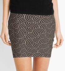 SWIRL / Coffee Mini Skirt