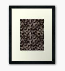 SWIRL / Coffee Framed Print