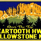 Yellowstone National Park Beartooth Highway Wyoming Montana Vintage by MyHandmadeSigns