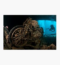Sunken Motorbike - Thistlegorm Photographic Print