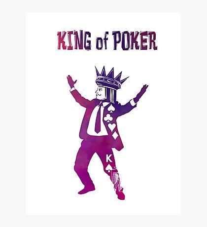 King of Poker purple Photographic Print
