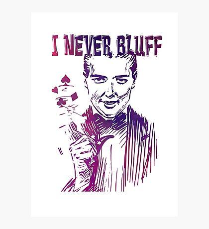 Poker - I never bluff - purple Photographic Print