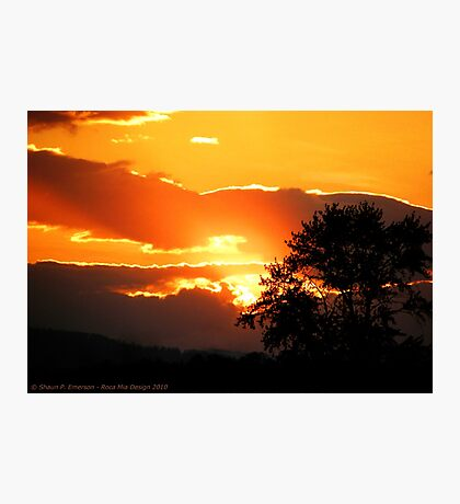 Sky's on Fire Photographic Print