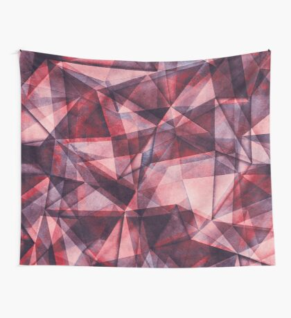 triangles pink purple Wall Tapestry