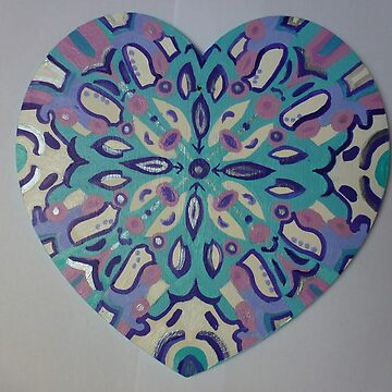 Hand Painted heart by TraceyPacitti