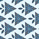 Decorative Mosaic Triangles by Gravityx9