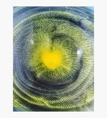 Abstraction watercolor painting - heart Photographic Print