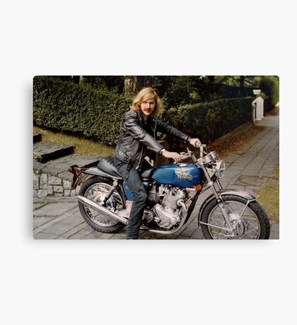 Biker Billy Canvas Print