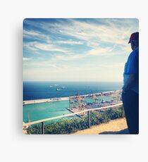 Looking Out on the Mediterranean Canvas Print